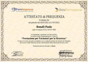 Bonafe paolo Corso Formatori