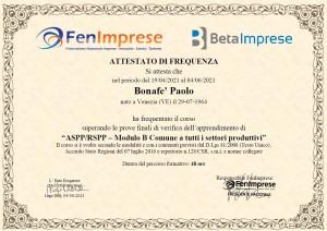 Bonafe paolo Corso RSPP modulo B