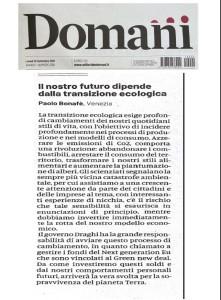 Domani 20-09-2021 lettera il nostro futuro dipenda dalla transizione ecologica