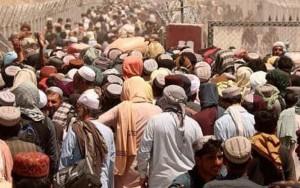 foto di afgani in fuga